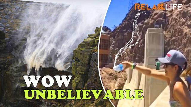 Amazing revese waterfall in the world