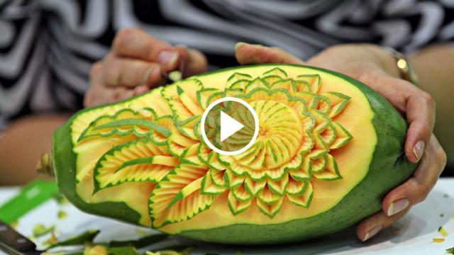Chiêm ngưỡng nghệ thuật cắt tỉa và trang trí hoa quả