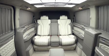 Nội thất siêu sang trên chiếc Limousine V-Class