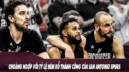 Choáng Ngợp Với Tỷ Lệ Ném Rổ Thành Công Của San Antonio Spurs
