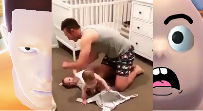 Ngưỡng mộ cảnh ông bố vật lộn thay đồ cho 2 con gái nhỏ