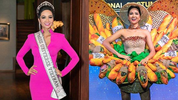 Bộ Bánh Mỳ chính thức theo hoa hậu H Hen Niê thi trang phục truyền thống tại Miss World