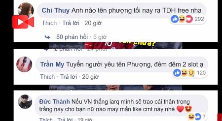Những comments hài hước của CĐV bóng đá Việt Nam