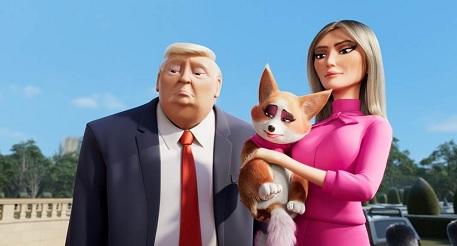 Tổng thống Trump lần đầu xuất hiện trong phim hoạt hình với tạo hình thú vị