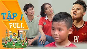 Cầu thủ nhí tập 1: Phiên bản nhí Quang Hải xuất hiện khiến Diệu Nhi, HLV Hồng Sơn phát cuồng