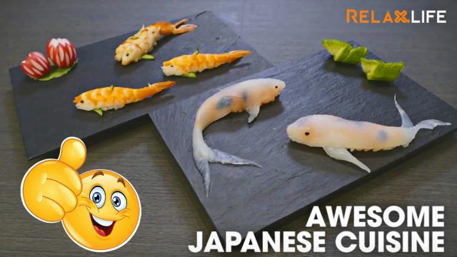 Nghệ thuật bày biện món ăn đẹp mắt của Người Nhật