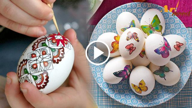 Beautiful egg decoration